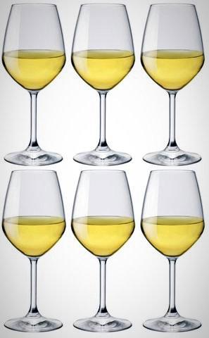 DVine -White Wine Glasses - Set of 6