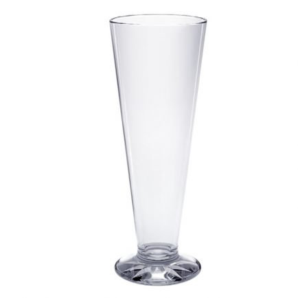 Tall Pilsner Polycarbonate Glasses 385 ml  Set of 12