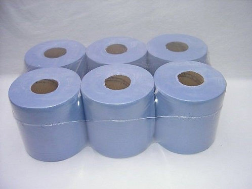 Blue Centrefeed Rolls, Pack of 6