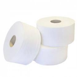 White Box Mini Jumbo Toilet Roll 2-Ply 150 Metres White (Pack of 12)
