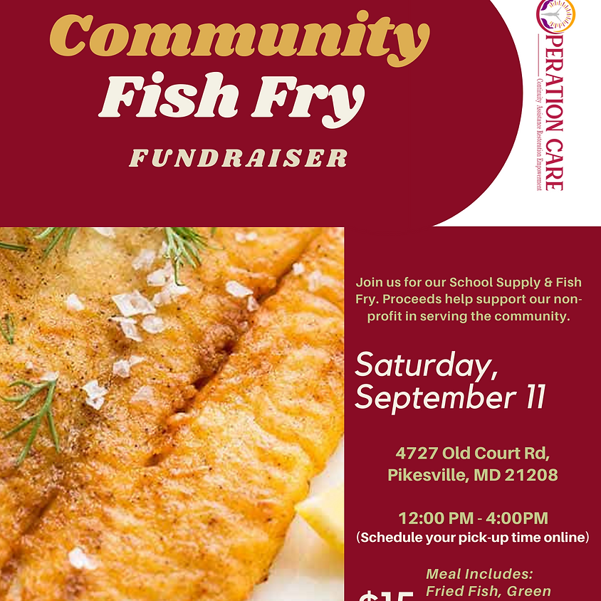 Community Fish Fry Fundraiser