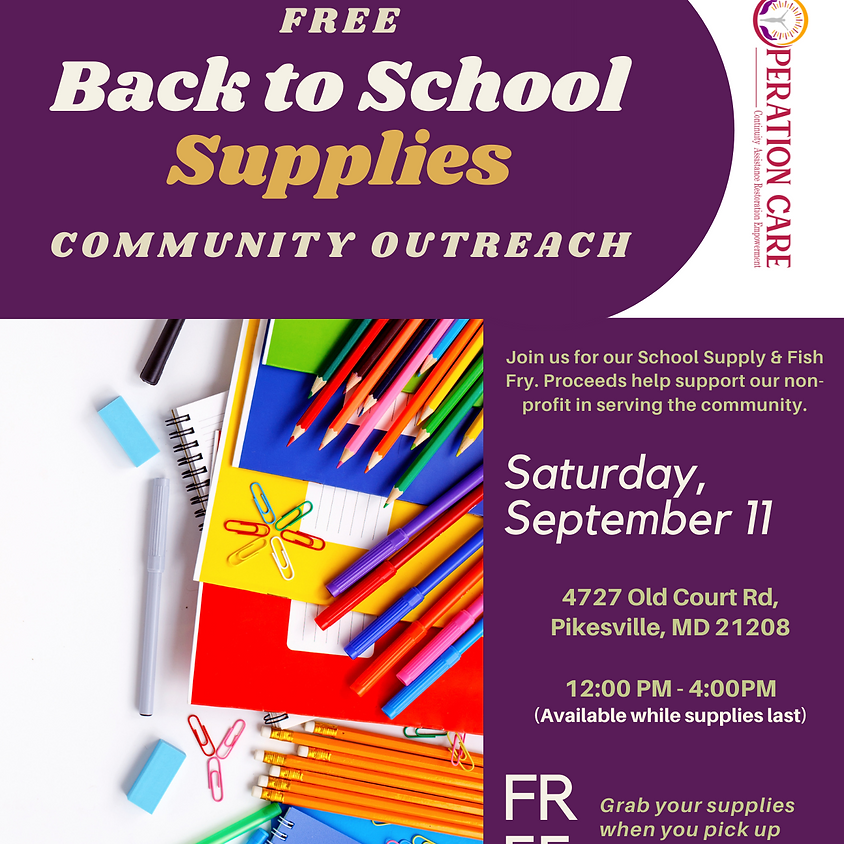 FREE Back to School Supply Outreach