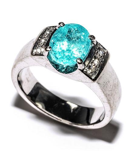 Weissgold Ring mit Paraiba Turmalin