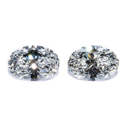 Diamanten Paar, oval 1.400 Carat