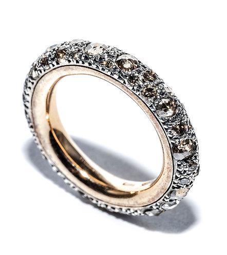 "Pomellato Ring ""Tango"" - braune Diamanten"