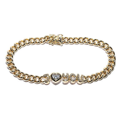 "Bracelet - Armband Chopard ""I love you"" Gelbgold"