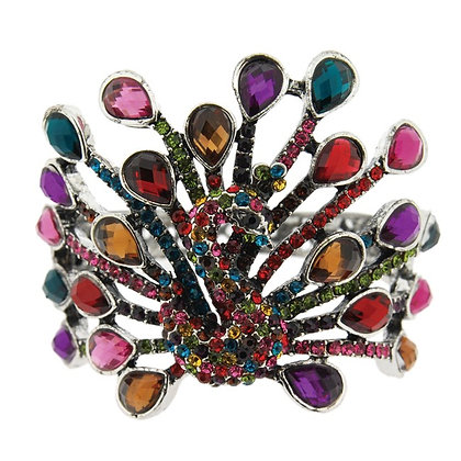 SOLD Limited Edition peacock crystal.