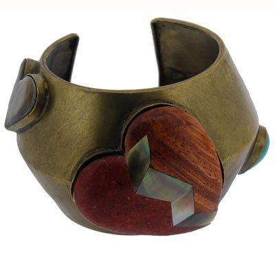 Hand made copper and quarts gem