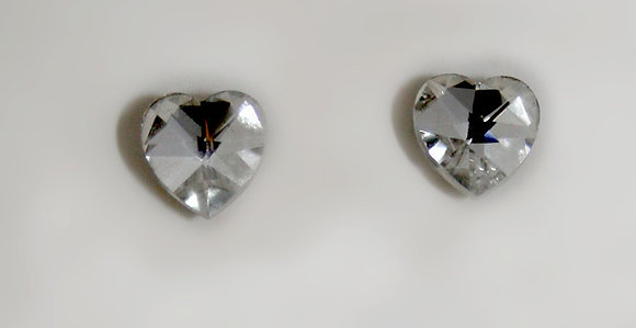 Heart shaped Austrian Crystal earrings