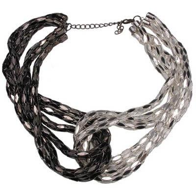 SOLD Dazzling black v White designer neckwear
