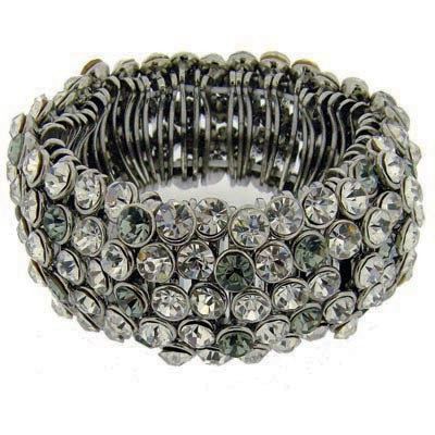 High impact statement crystal embellished bracelet