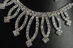 Austrian Diamond cut crystal necklace set