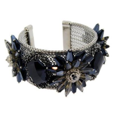 Limited addition blue stone crytal designer cuff