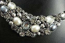 Vintage Silver Cluster necklace