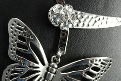 Designer Butterfly Choker with cut crystal center