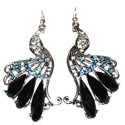 Statement peacock with back gem embelishment