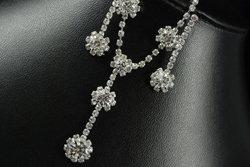 Sparkling Austrian Crystal drop necklace set