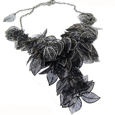 SOLD Designer leaf cluster necklace