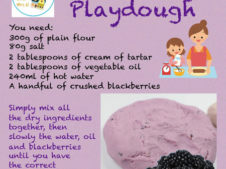 Being Creative With Playdough!