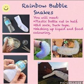 Rainbow Bubble Snakes