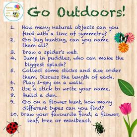 Go Outdoors!