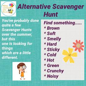 Alternative Scavenger Hunt