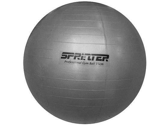 Мяч для фитнеса (матовый). Цвет: серый. Диаметр 75 см