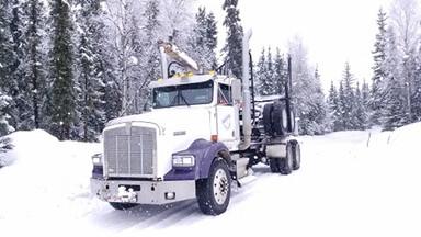 Semi used for hauling wood