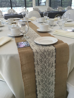 3 layer texture table runners