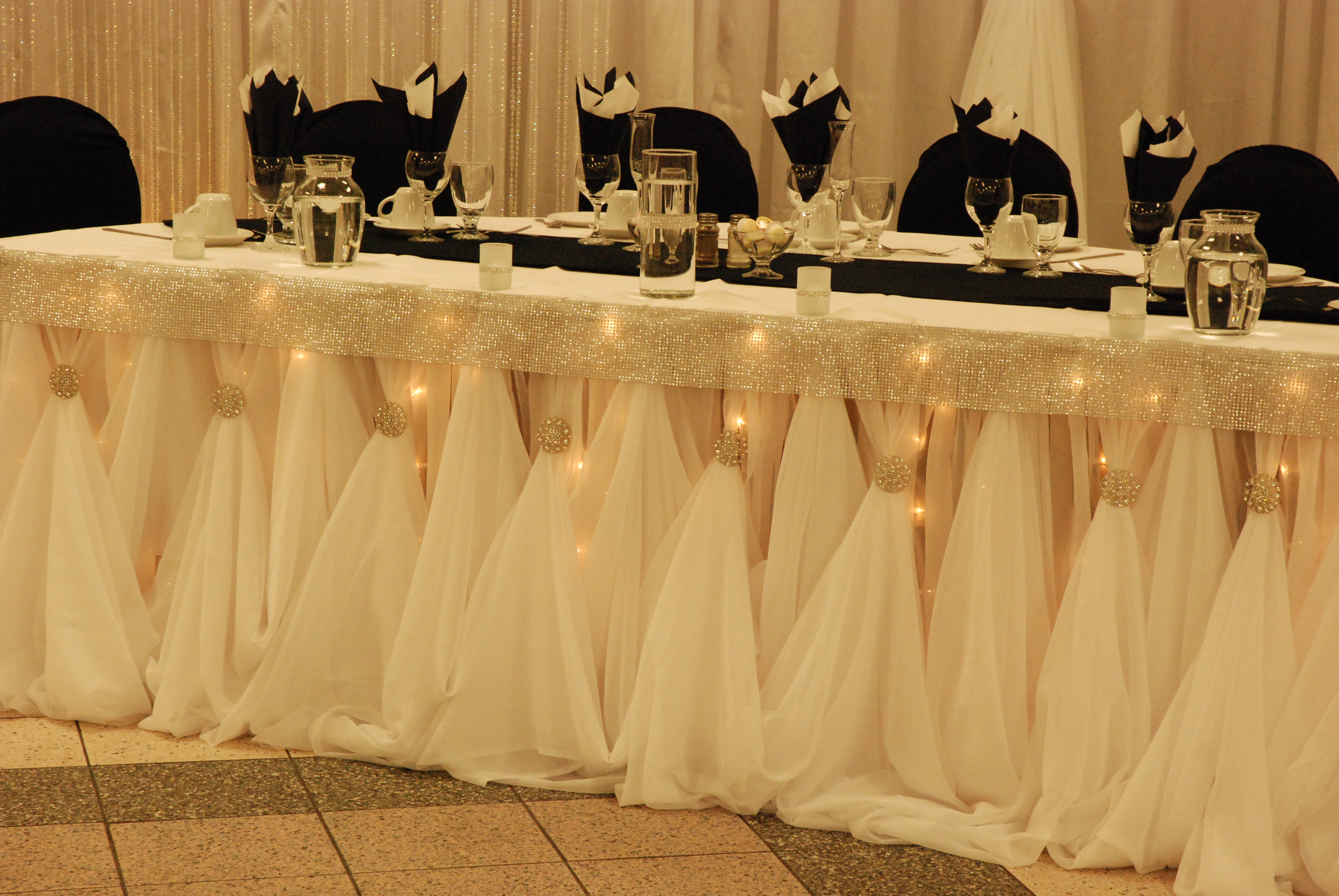 Adjustable Cinderella Table Skirting
