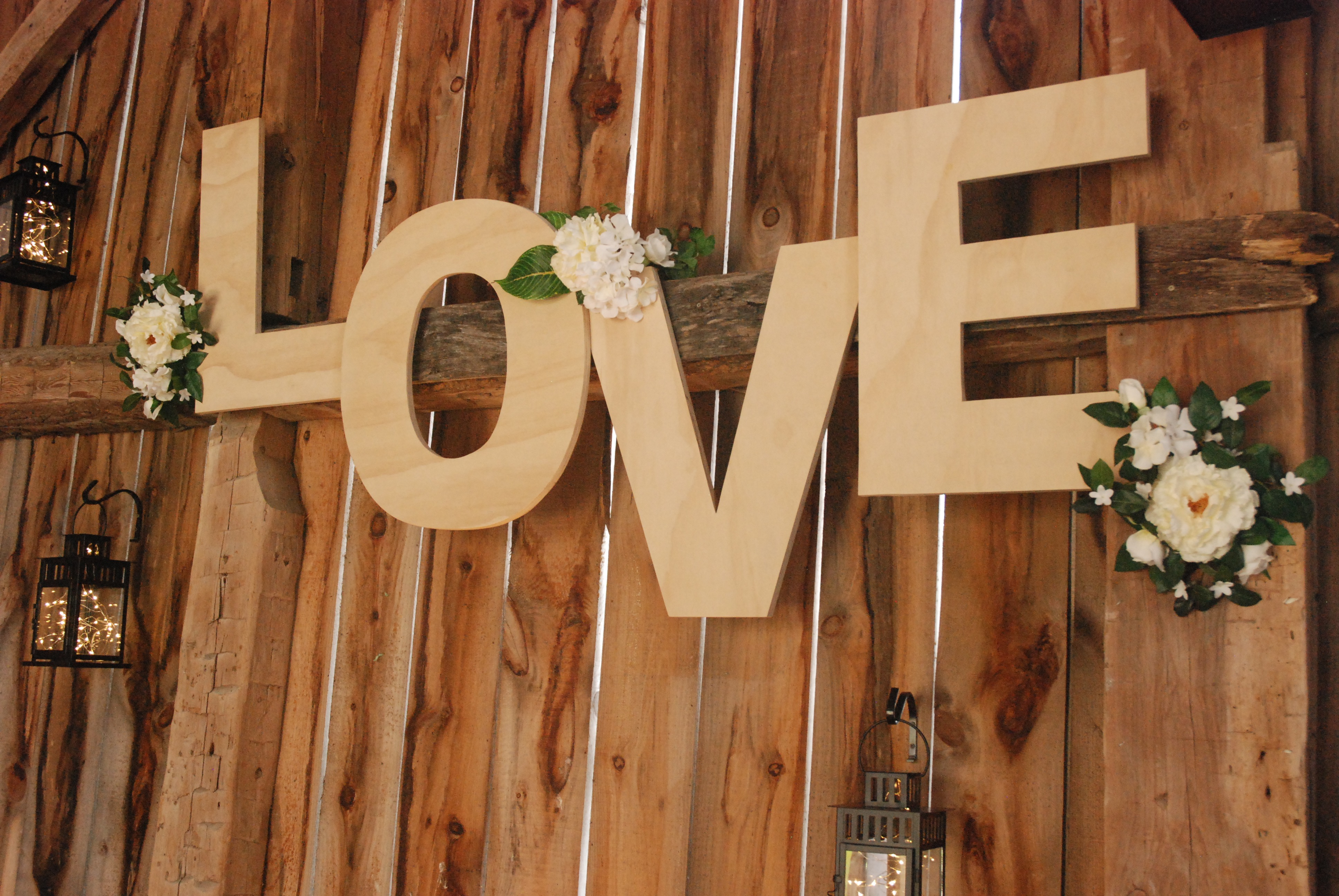 "Custom ""LOVE"" Letters Wall Hang"