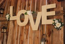 "Custom ""LOVE"" Letters Wall Hang"