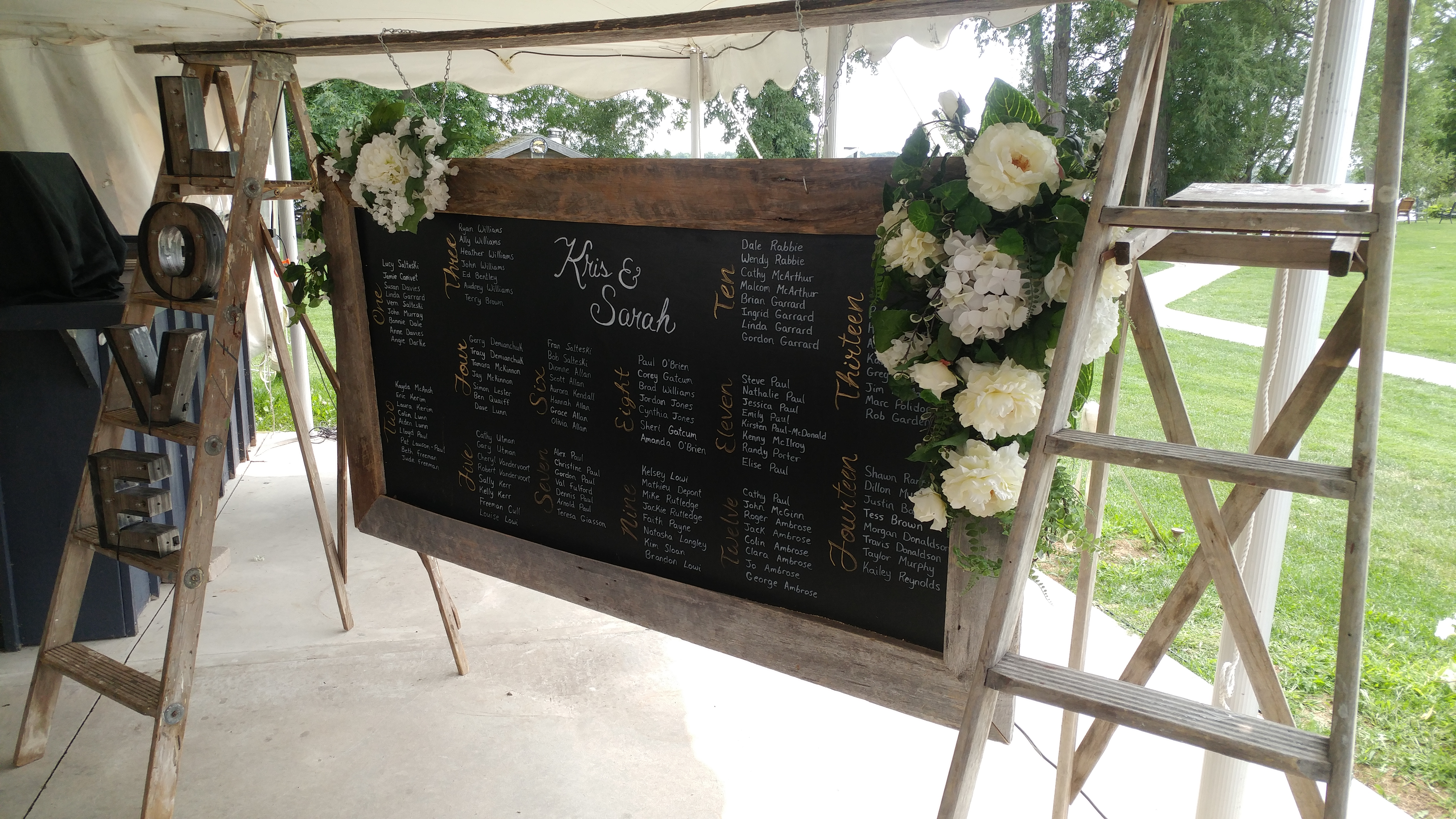 Custom Hand Written Seating Chart