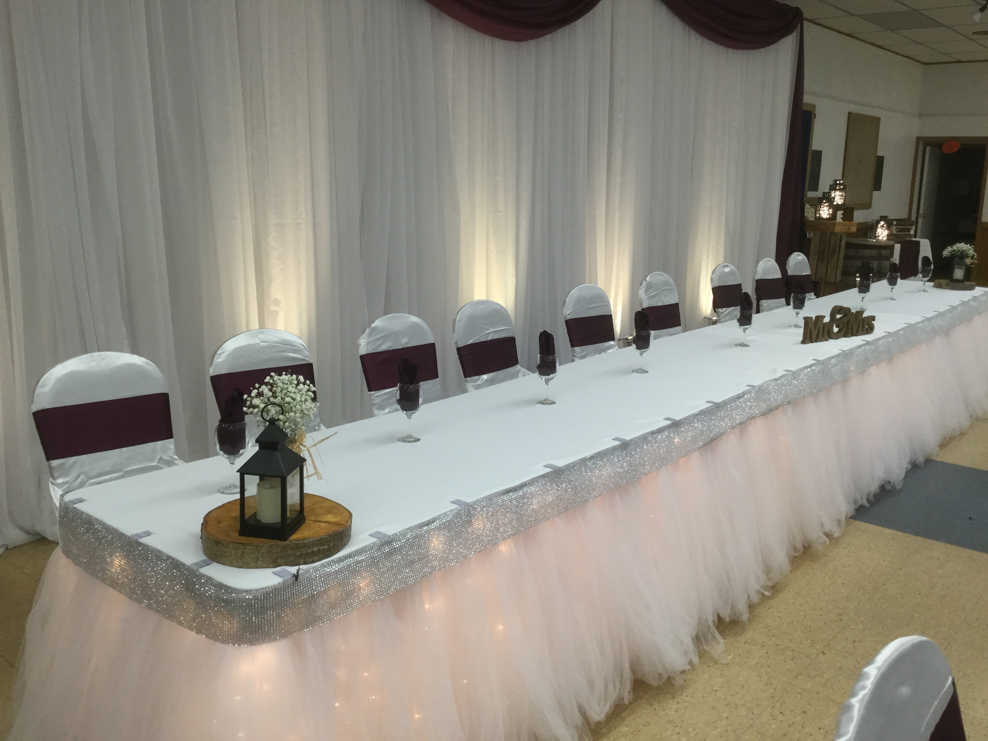 Tulle Table Skirting