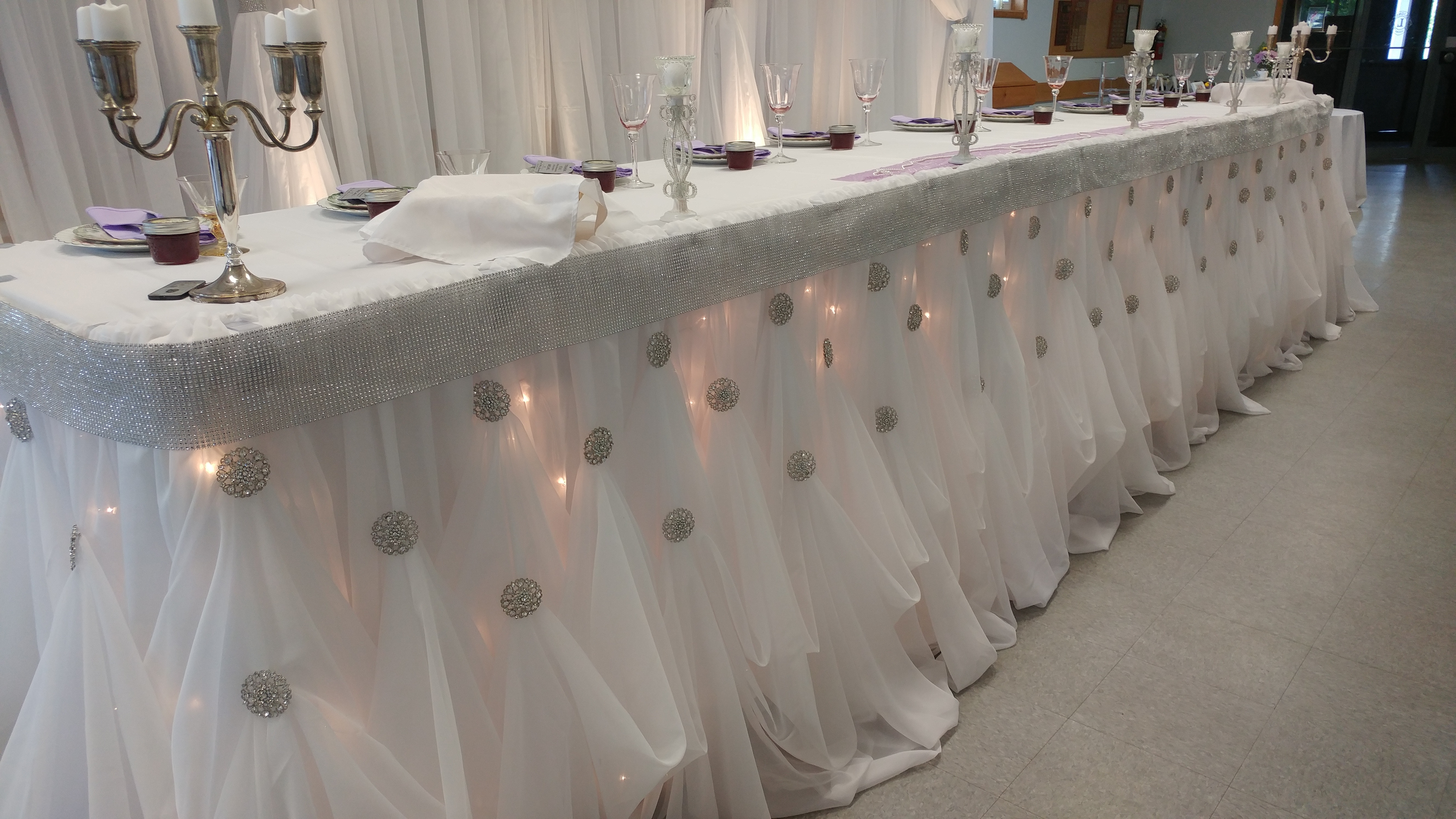 Tall Adjustable Cinderella Table Skirting
