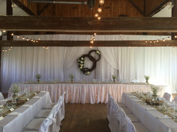 Classic White Layered Backdrop Design