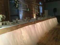Tulle Table Skirting with Mini Lights