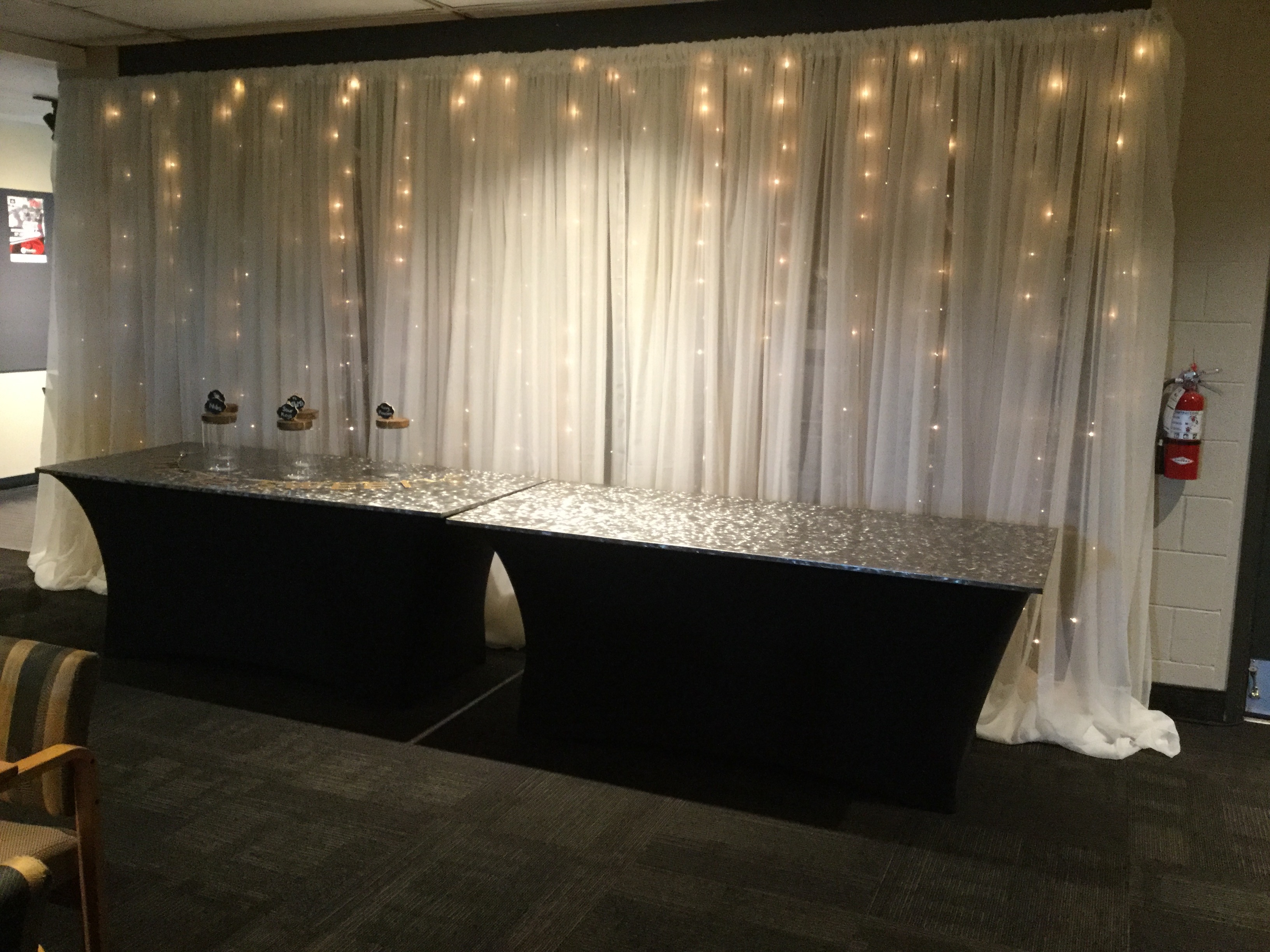 Draping with mini lights