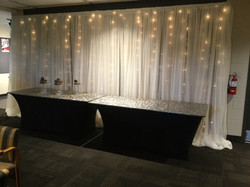 Draped Covering with mini lights