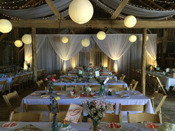 Barn Backdrop Draping