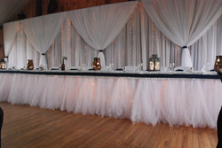 Tulle Head Table Backdrop Design