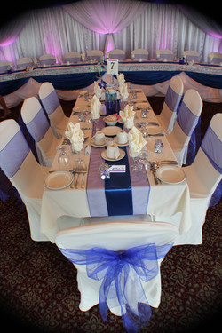 Organza / Satin Table Runners Royal Bule