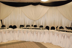 Satin & Sheer Crystal Curtin Backdrop