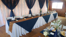 Pleated Skirt Head Table & Backdrop