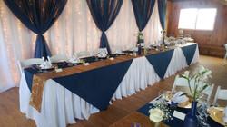 Pleated Skirt Head Table & Backdrop