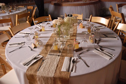Burlap Lace Mason Jar Table Design