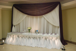 Entrance Seating Chart Table & backdrop Design