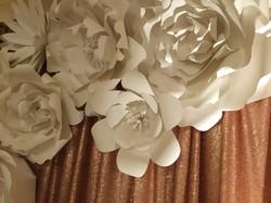 Custom Paper Flower Backdrop