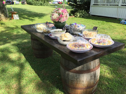 8' Whisky Barrel Table