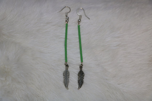 Beaded Strand with Feather